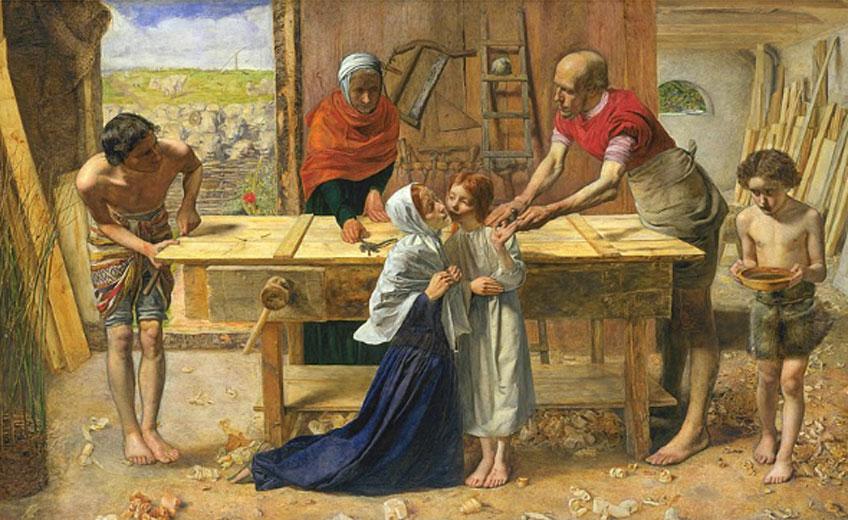 John Everett Millais. Cristo en casa de sus padres, 1849-1850. Tate