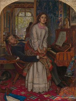 William Holman Hunt. El despertar de la conciencia, 1853. Tate Gallery