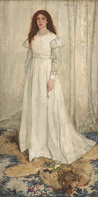 Whistler. La joven blanca, 1862. National Gallery, Washington
