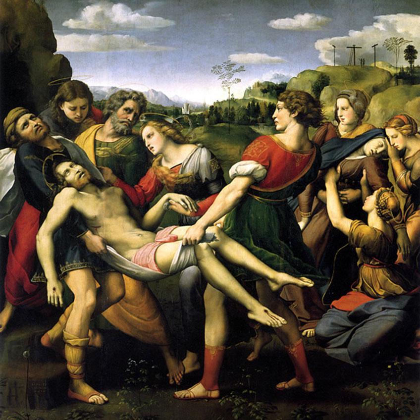 Rafael. Traslado de Cristo o Deposición Borghese, 1507. Galleria Borghese