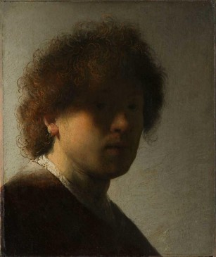 Rembrandt. Autorretrato, hacia 1628