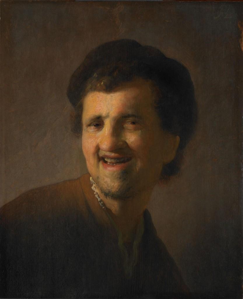 Rembrandt. Autorretrato riéndose, 1629-1630