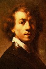 Rembrandt. Autorretrato con gorguera o autorretrato con 23 años, hacia 1629