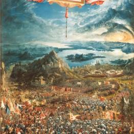 Albrecht Altdorfer. La batalla de Alejandro Magno, 1529