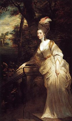 Joshua Reynolds. Georgiana, duquesa de Devonshire, 1775