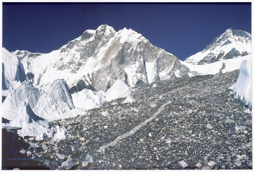 Richard Long. A Line in the Himalayas 1975