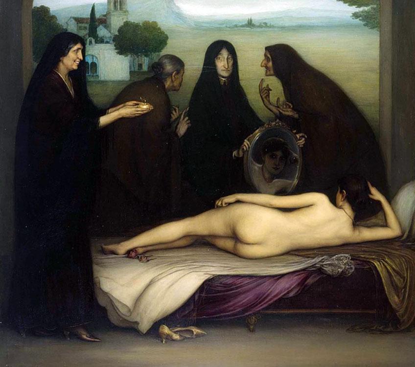 Julio Romero de Torres. El pecado, 1913. Museo Julio Romero de Torres