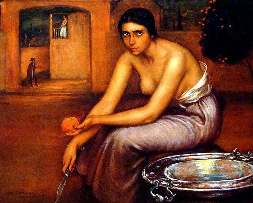 Julio Romero de Torres. Celos, 1920. Colección particular