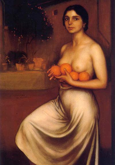 Julio Romero de Torres. Naranjas y limones, 1927. Museo Julio Romero de Torres