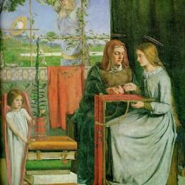 Dante Gabriel Rossetti. La adolescencia de la Virgen