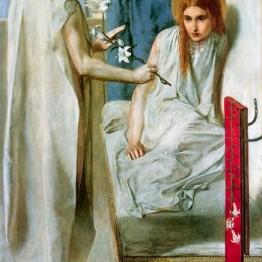 Dante Gabriel Rossetti. He aquí la esclava del Señor (Anunciación), 1849-1850