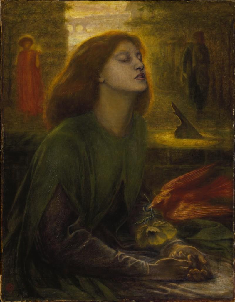 Dante Gabriel Rossetti. Beata Beatrix, 1860-1870. Tate Gallery