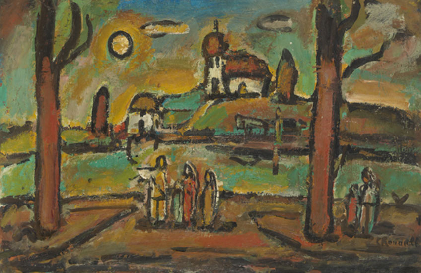 Georges Rouault. Biblical Landscape with Two Trees, 1952