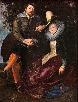 Rubens. Autorretrato con su esposa Isabel Brant, hacia 1609-1610. Alte Pinakothek, Munich