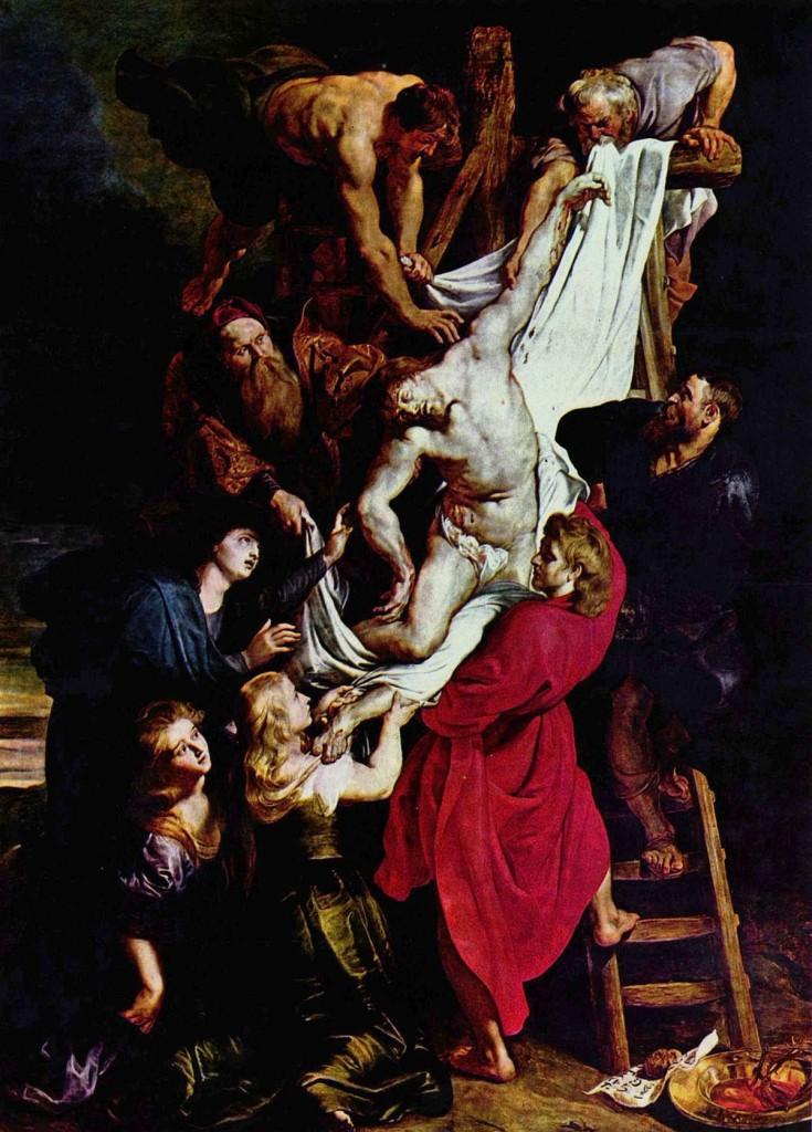 Rubens. El descendimiento de la cruz, 1612-1614. Catedral de Amberes