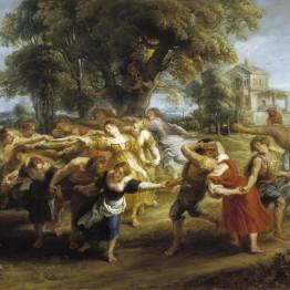 Rubens. Danza de aldeanos, hacia 1636-1640. Museo Nacional del Prado