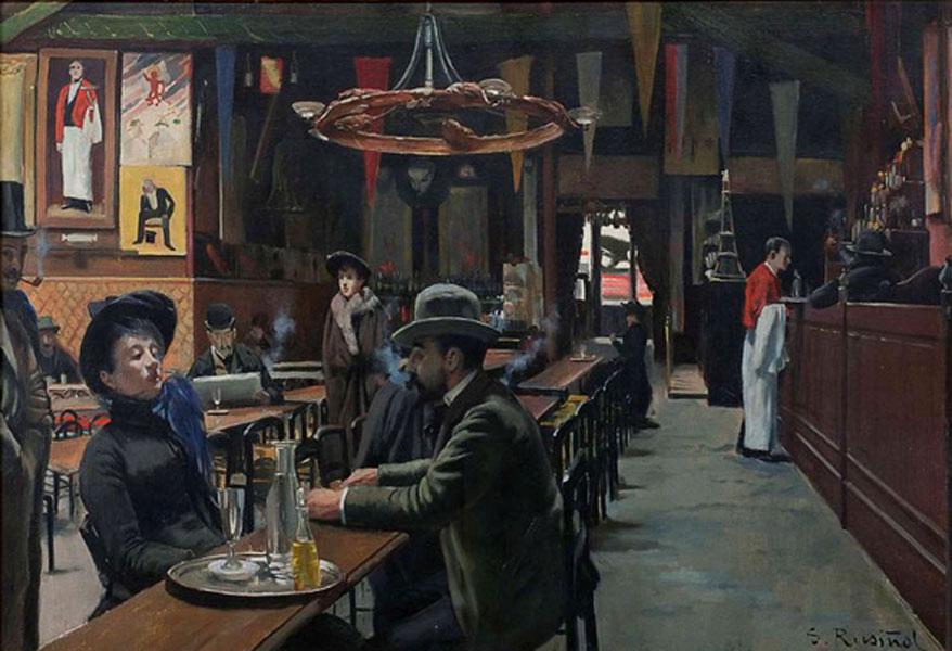 Santiago Rusiñol. Cafe des Incohérents, 1890. Museu de Montserrat