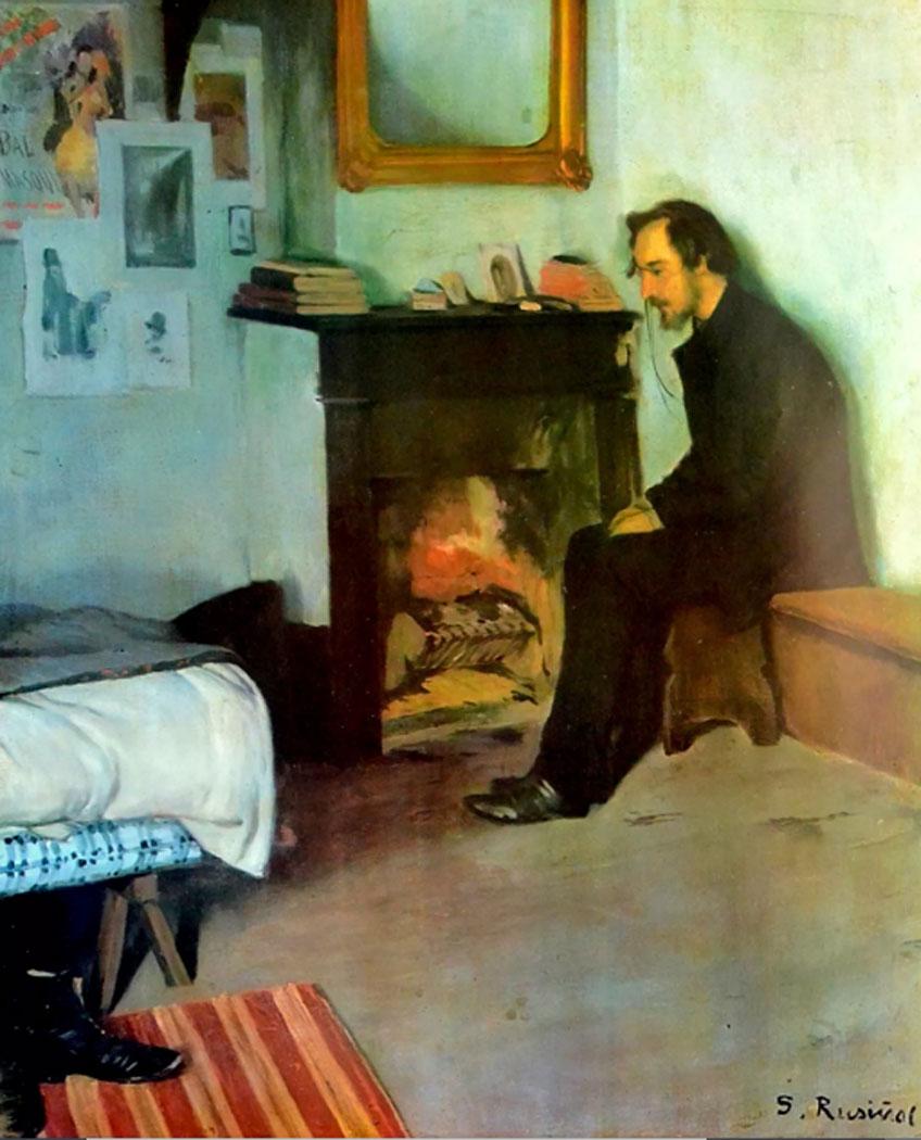 Santiago Rusiñol. Erik Satie en su estudio, 1891. Northwestern University Library