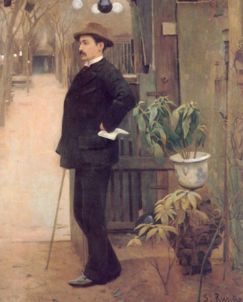 Santiago Rusiñol. Maurice Utrillo en el Moulin de la Galette, 1890. Museu Nacional d'Art de Catalunya, Barcelona
