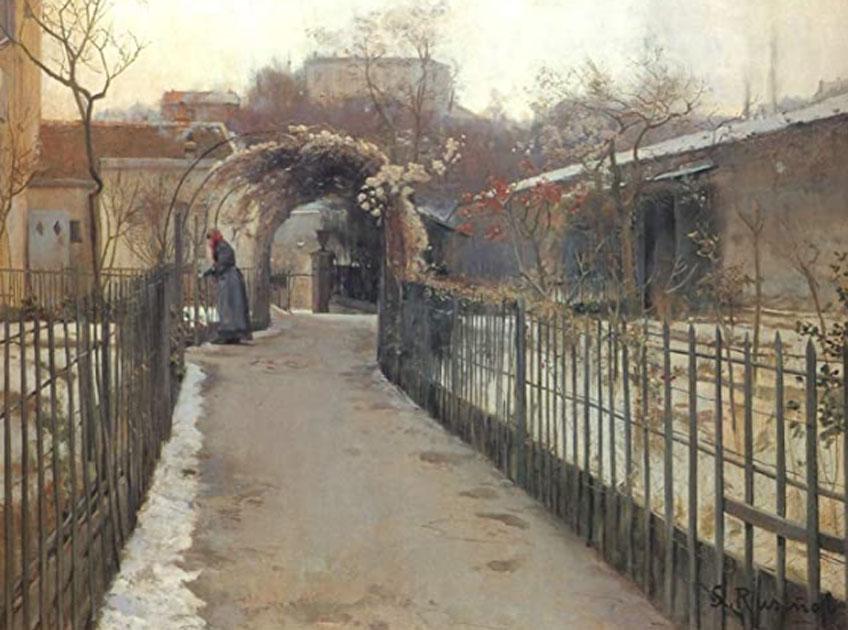 Santiago Rusiñol. Jardín de invierno, 1891. Colección particular