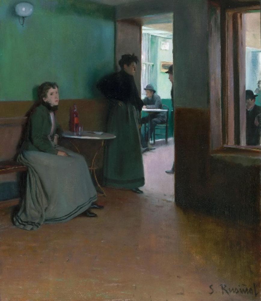 Santiago Rusiñol. Interior de un café, 1892. Philadelphia Museum of Art