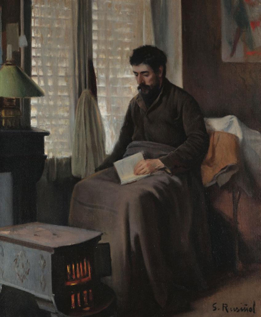 Santiago Rusiñol. Ramón Canudas, enfermo convaleciente, 1892. Museu del Cau Ferrat
