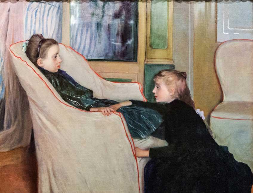 Santiago Rusiñol. La convaleciente, 1893