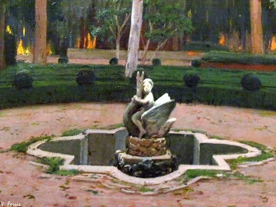 Santiago Rusiñol. Jardín de Monforte, 1919. Colección Gerstenmaier