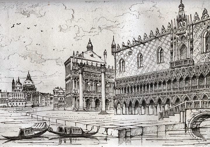 El Palacio de los Dogos de Venecia según Ruskin