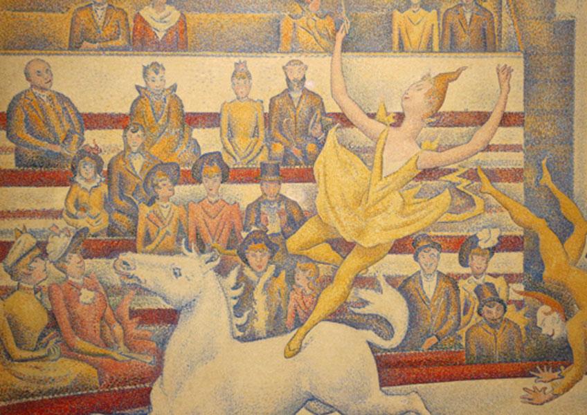 Seurat. Circo (fragmento), 1890-1891. Musée d´ Orsay
