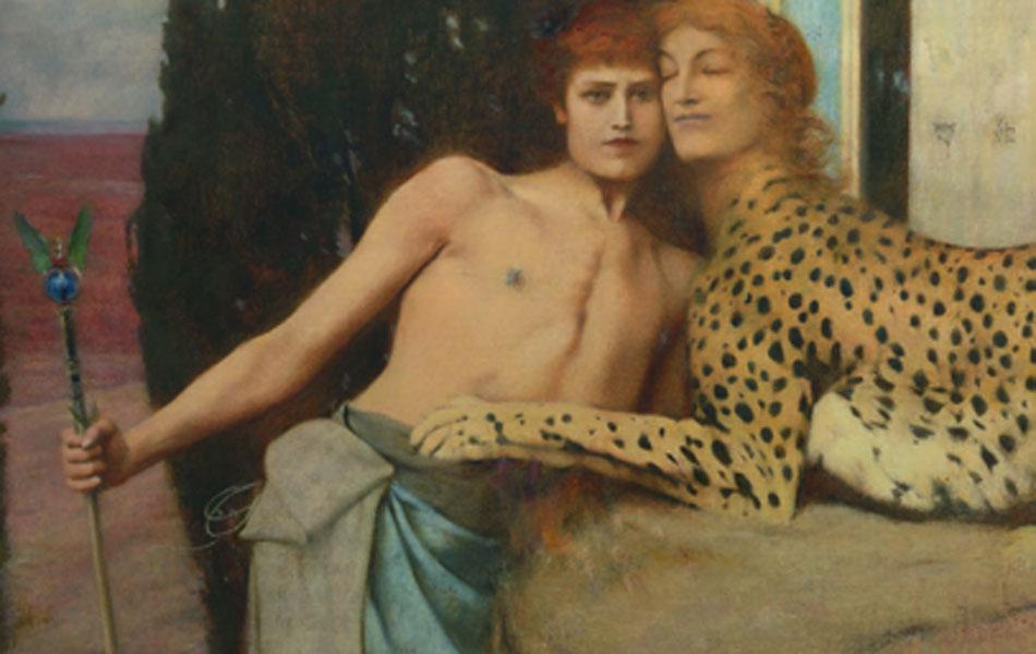 Fernand Khnopff. Des Caresses, 1896. Musées royaux des Beaux-Arts de Belgique