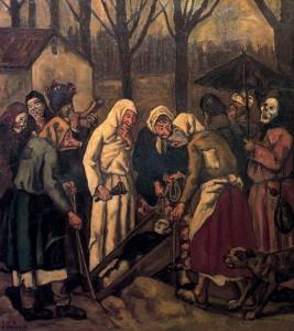José Gutiérrez Solana. El entierro de la sardina, 1912
