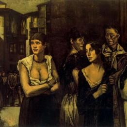José Gutierrez Solana. Mujeres de la vida, 1915-1917. Museo de Bellas Artes de Bilbao