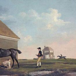 Georges Stubbs. Gimcrack en Newmarket Heath con su preparador y su jockey