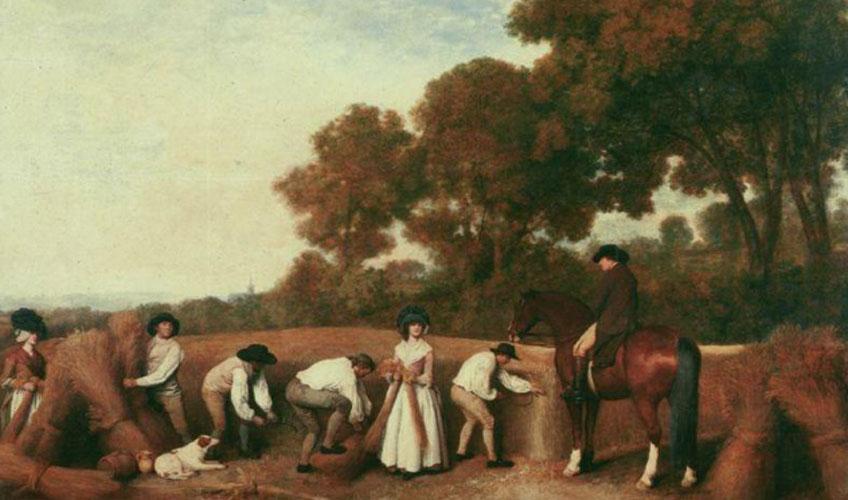 Georges Stubbs. Segadores, 1785
