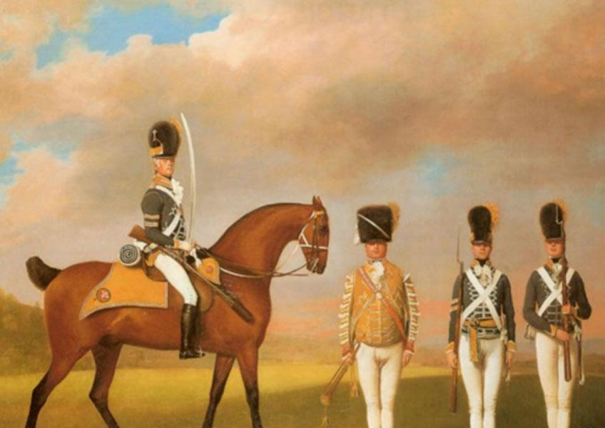 Georges Stubbs. Soldados del Décimo Regimiento de Dragones Ligeros, 1793. Colección particular