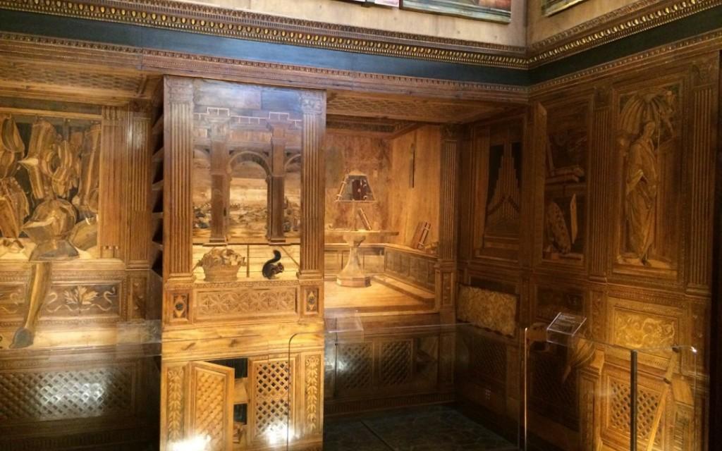 Studiolo de Federico de Montefeltro en su Palacio de Urbino, 1476