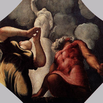 Tintoretto. Pirra y Deucalión, hacia 1540
