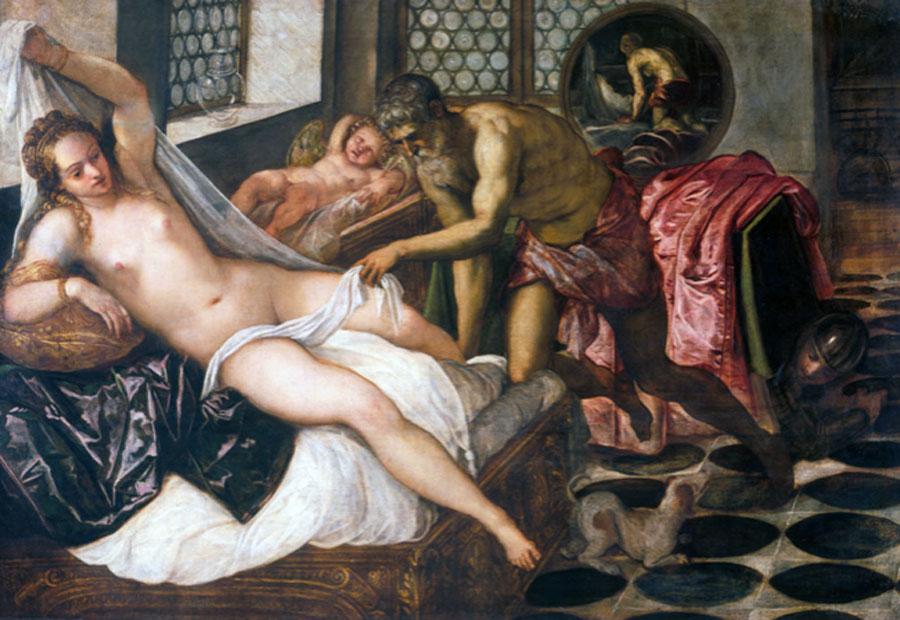 Tintoretto. Venus, Vulcano y Marte, hacia 1555. Alte Pinakothek, Múnich