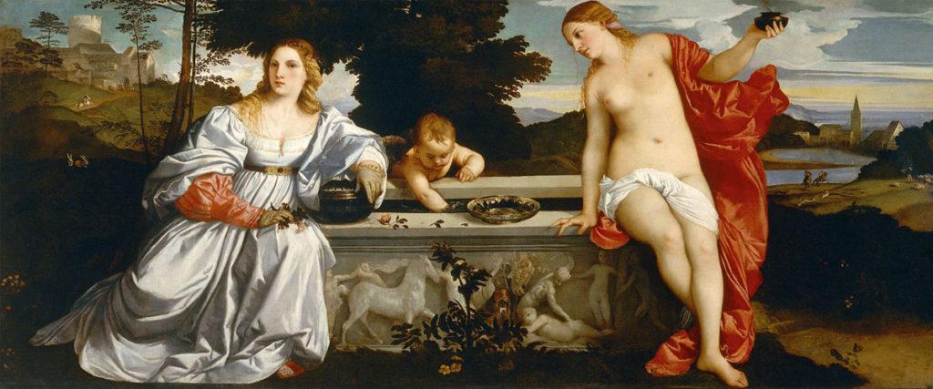 Tiziano. El amor sacro y el amor profano, 1514. Galleria Borghese