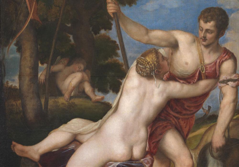 Tiziano. Venus y Adonis, 1554. Museo Nacional del Prado
