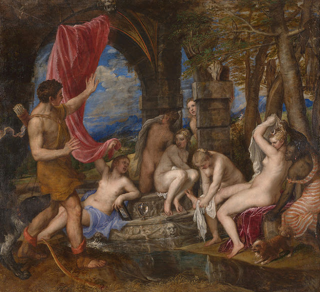 Tiziano. Diana y Acteón, 1556-1559. National Galleries of Scotland