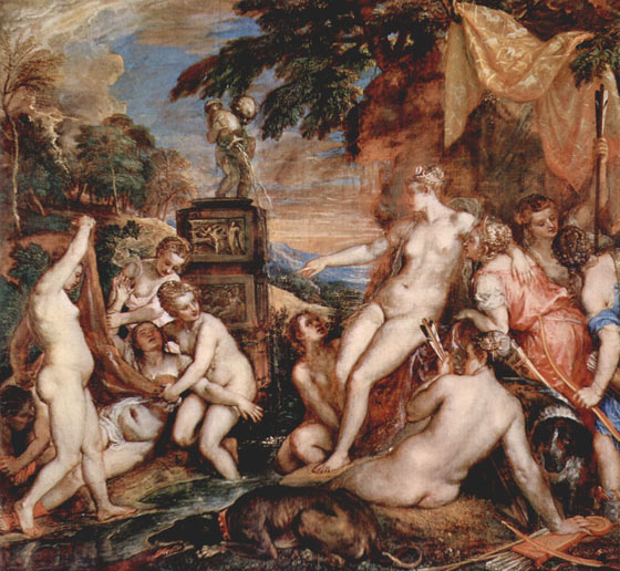 Tiziano. Diana y Calisto, 1556-1559. National Galleries of Scotland