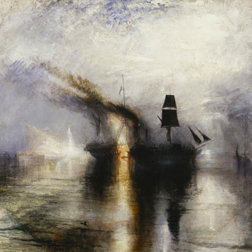 Turner, Peace - Burial at Sea, hacia 1842