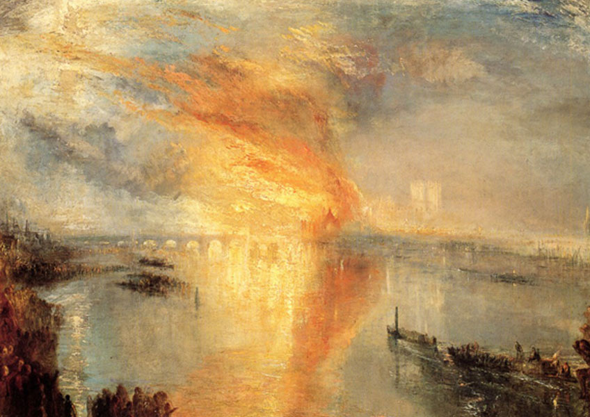 Turner. Incendio del parlamento, 1835. Philadelphia Museum of Art