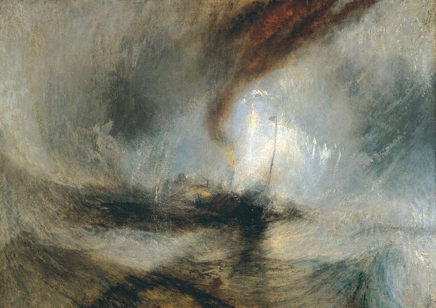 Turner. ormenta de nieve-Vapor frente a la bocana de un puerto. 1842. Tate Britain