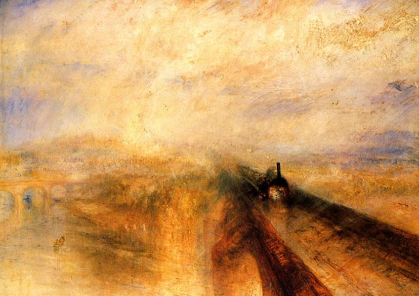 Turner. Lluvia, vapor y velocidad, 1844. National Gallery, Londres