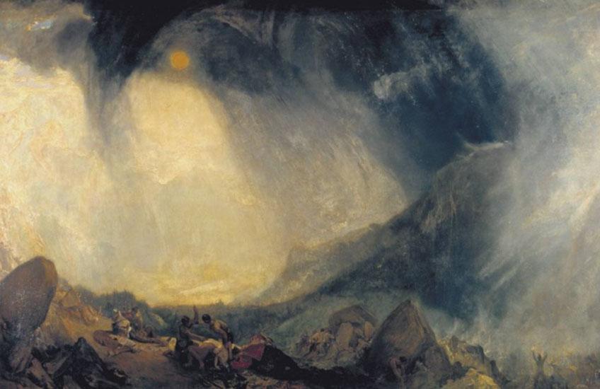 Turner. Tormenta de nieve: Aníbal y su ejército cruzando los Alpes, hacia 1812. Tate