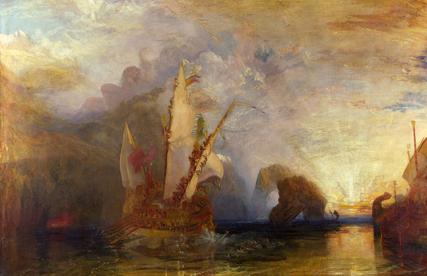 Turner. Ulises burlando a Polifemo, 1829. National Gallery, Londres