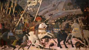 Paolo Uccello. La batalla de San Romano. National Gallery
